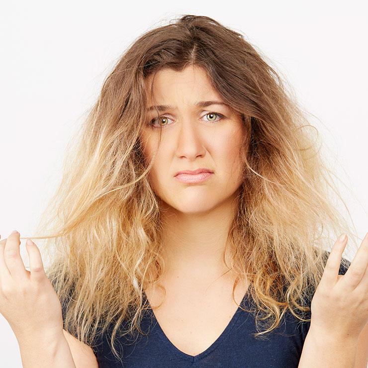 درمان موهای خشک باچند داروی خانگی